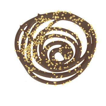 Spiral with gold sugar 8 cm,  £24.95 per carton of 69 Pieces