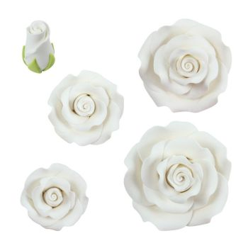 Roses ass. white dragant,  £24.95 per carton of 69 Pieces