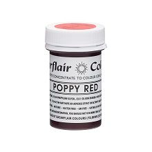 Tartranil Concentrated Paste - Poppy Red, 10 x 25g pots  per colour at £2.82 each.