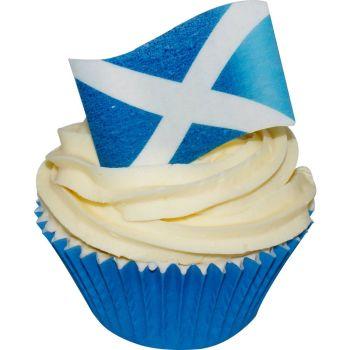 Edible Cake Topper - Wafer St Andrews Cross - Scottish Flag
