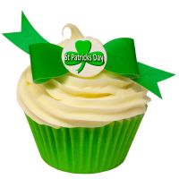 Pack of 10 perfectly cut St Patricks Day Bow