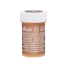 Edible Matt Paints - Rose Gold, 10 x 20g pots  per colour at £2.66 each.