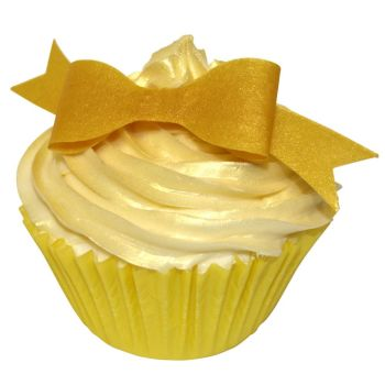 Pack of 10 perfectly cut Edible Gold Metallic Bows