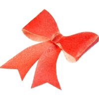 CDA Wafer Paper Pack of 10 Edible Red Metallic Bows