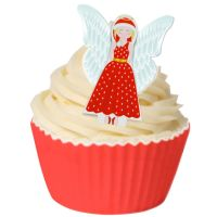 Pack of 6 Edible Pre-Cut Wafer Decorations - 3D Christmas Angel