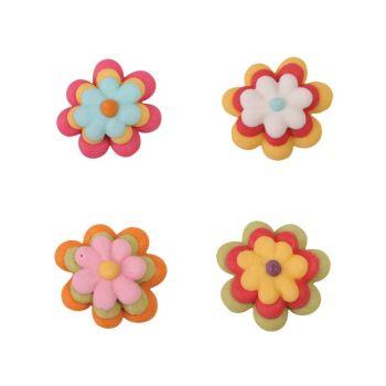 Flower 3 colours 2,5cm, 129 Pieces Per Box