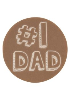 "Lucks #1 Dad Sweet Shapes Fondant: Pack/Size: 24 pack 4"" Rounds"