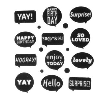 "Lucks Speech Bubbles Sweet Shapes: Pack/Size: 144 pack 1 1/2"" - 1 5/8"""