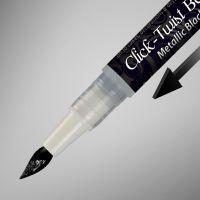 Rainbow Dust The Click-Twist Brush® - Metallic Black: 2ml, 10 Units Per Box. £2.41 Per Unit.