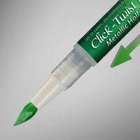 Rainbow Dust The Click-Twist Brush® - Metallic Holly Green: 2ml, 10 Units Per Box. £2.41 Per Unit.