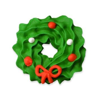 """Lucks Large Wreath with Bow Royal Icing: Pack/Size: 96/bx approx 1-1/4"""""""