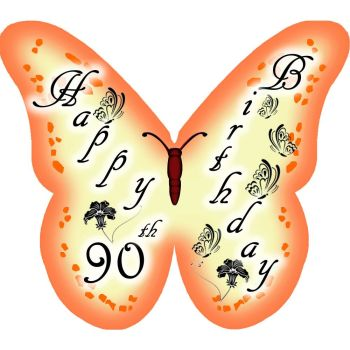CDA Wafer Paper Pack of 12 Happy 90th Birthday (Lady)