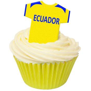 CDA Wafer Paper Pack of 12 Ecuador Football Shirts