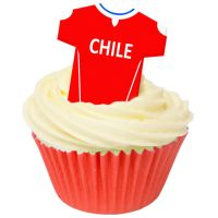 CDA Wafer Paper Pack of 12 Chile Football Shirts