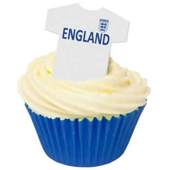 CDA Wafer Paper Pack of 12 England Football Shirts