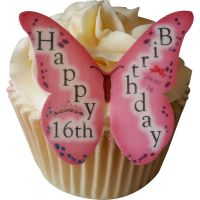 CDA Wafer Paper Pack of 12 Happy 16th Birthday (Girl)