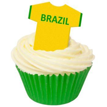 CDA Wafer Paper Pack of 12 Brazil Football Shirts