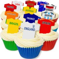 CDA Wafer Paper Mixed Pack of 12 Mixed Pack of World Cup T Shirts