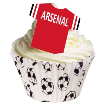 CDA Wafer Paper Pack of 12 Edible T Shirts - Arsenal