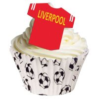 CDA Wafer Paper Pack of 12 Edible T Shirts - Liverpool