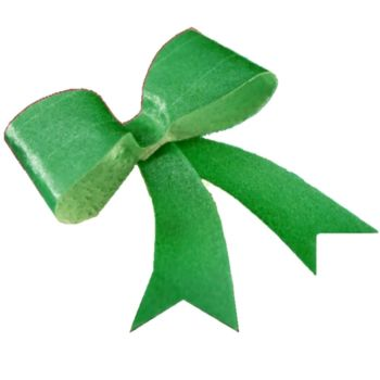 CDA Wafer Paper Pack of 10 Edible Green Metallic Bows