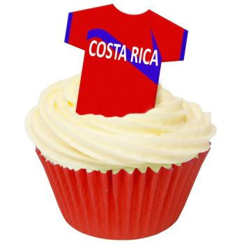 CDA Wafer Paper Pack of 12 Costa Rica Football Shirts