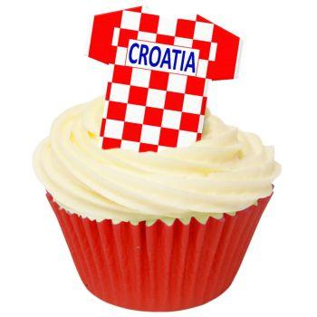 CDA Wafer Paper Pack of 12 Croatia Football Shirts