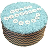 CDA Wafer Paper Pack of 72 25mm Letters & Numbers - Baby Blue