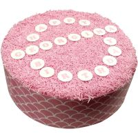 CDA Wafer Paper Pack of 72 25mm Letters & Numbers - Baby Pink