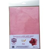 CDA Wafer Paper Pack of 6 Translucent pink edible wafer paper