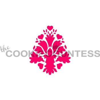 Heart Damask by The Cookie Countess: 3 Units @ £4.44 Per Unit