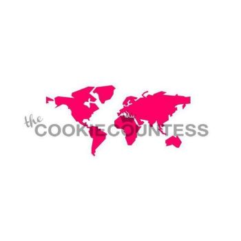 World Map by The Cookie Countess: 3 Units @ £4.44 Per Unit