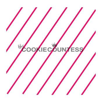 Diagonal thin stripe by The Cookie Countess: 3 Units @ £4.44 Per Unit