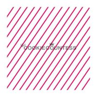 Diagonal thin stripe 2 by The Cookie Countess: 3 Units @ £4.44 Per Unit