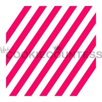 Diagonal Wide Stripe by The Cookie Countess: 3 Units @ £4.44 Per Unit