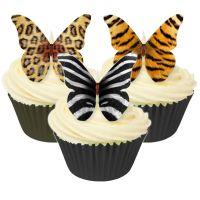 CDA Wafer Paper Mixed Pack of 12 Mixed animal design edible butterflies