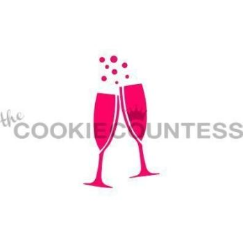 Champagne Glasses by The Cookie Countess: 3 Units @ £4.44 Per Unit