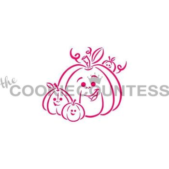 Drawn with Character Pumpkin Family PYO by The Cookie Countess: 3 Units @ £2.22 Per Unit