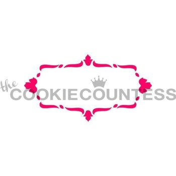 Lovely Plaque Damask Border by The Cookie Countess: 3 Units @ £4.44 Per Unit