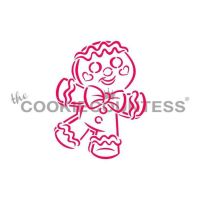 Drawn with Character Happy Gingerbread Man PYO by The Cookie Countess: 3 Units @ £2.22 Per Unit