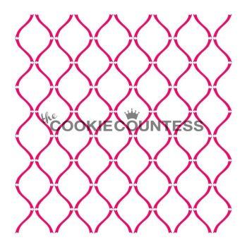 Curvy Lattice by The Cookie Countess: 3 Units @ £4.44 Per Unit