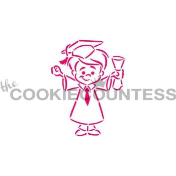 Drawn With Character - Graduate Boy by The Cookie Countess: 3 Units @ £4.44 Per Unit