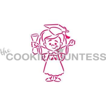 Drawn With Character - Graduate Girl by The Cookie Countess: 3 Units @ £4.44 Per Unit
