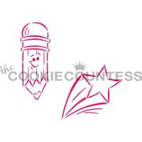 Drawn With Character - Pencil and Star by The Cookie Countess: 3 Units @ £4.44 Per Unit