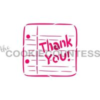 Drawn With Character - Thank You Note by The Cookie Countess: 3 Units @ £4.44 Per Unit