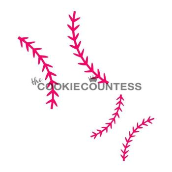 Baseball Stitches by The Cookie Countess: 3 Units @ £4.44 Per Unit