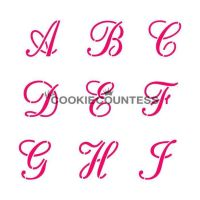 Alphabet Script Set by The Cookie Countess