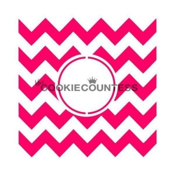 Chevron Monogram by The Cookie Countess