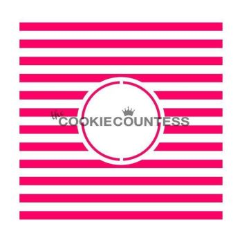 Stripes Monogram by The Cookie Countess