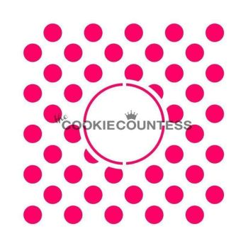 Polka dots Monogram by The Cookie Countess